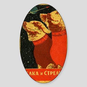 Belka and Strelka Sticker (Oval)