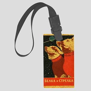 Belka and Strelka Large Luggage Tag