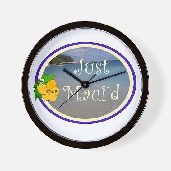 Just Maui'd Beach Logo Wall Clock
