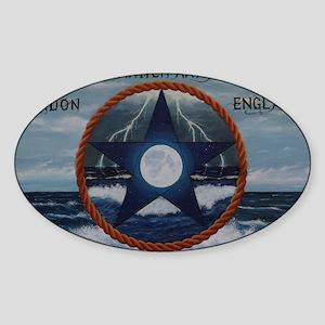 Sea Witch Pentgram Sticker (Oval)