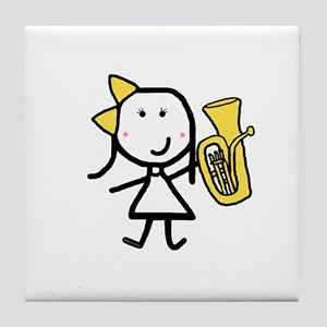 Girl & Baritone Tile Coaster