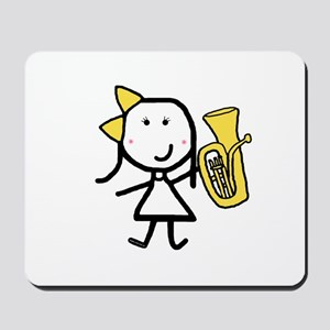 Girl & Baritone Mousepad