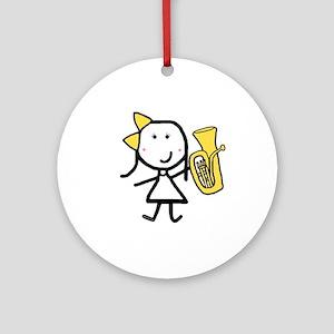 Girl & Baritone Ornament (Round)