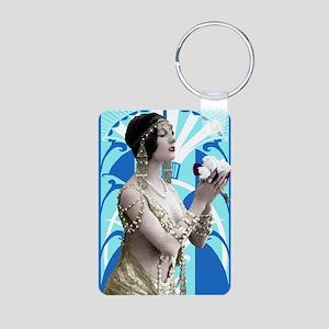 Art Deco Dancer Aluminum Photo Keychain