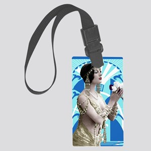 Art Deco Dancer Large Luggage Tag