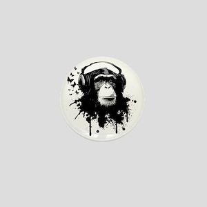 Headphone Monkey Mini Button