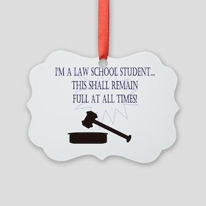 I'm a law school student.  Picture Ornament