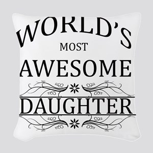 daughter Woven Throw Pillow