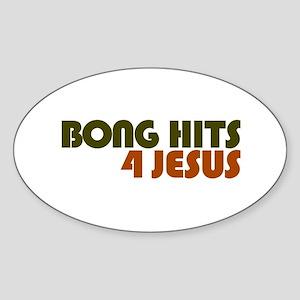 Bong Hits 4 Jesus Oval Sticker