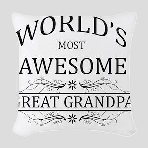 great grandpa Woven Throw Pillow