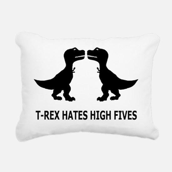 T-Rex Hates High Fives-1 Rectangular Canvas Pillow