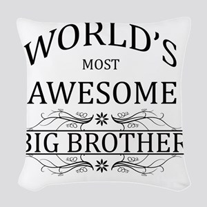 big brother Woven Throw Pillow