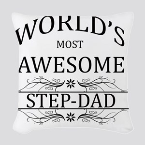 step dad Woven Throw Pillow