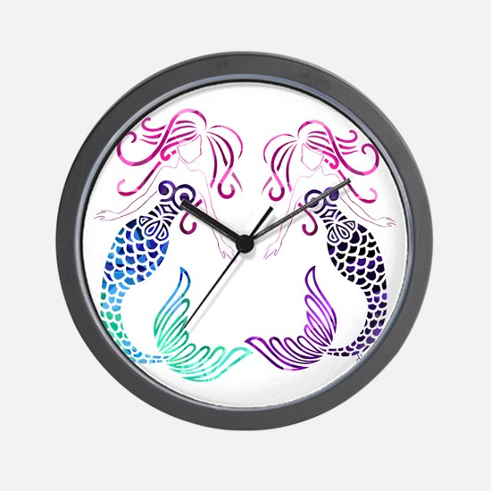 Mermaid Gals Wall Clock