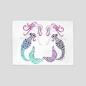 Mermaid Gals 5'x7'Area Rug