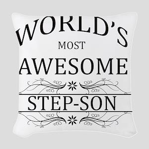 step son Woven Throw Pillow
