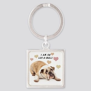 Luv-a-Bull Square Keychain