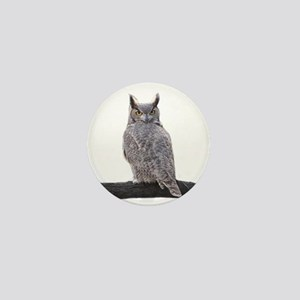 Great Horned Owl-1 Mini Button