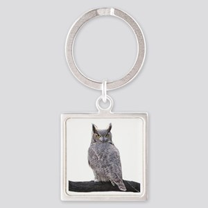 Great Horned Owl-1 Square Keychain