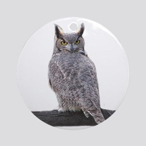 Great Horned Owl-1 Round Ornament