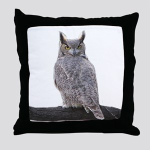 Great Horned Owl-1 Throw Pillow