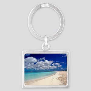 Merengue in Cocoa Bay Titled Landscape Keychain