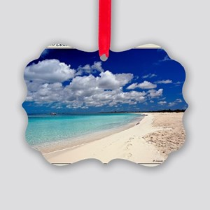 Merengue in Cocoa Bay Titled Picture Ornament