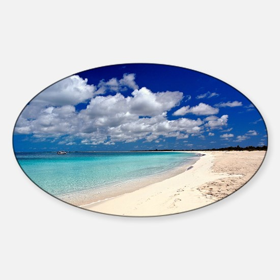 Merengue in Cocoa Bay Titled Sticker (Oval)