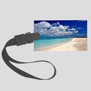 Merengue in Cocoa Bay Titled Large Luggage Tag