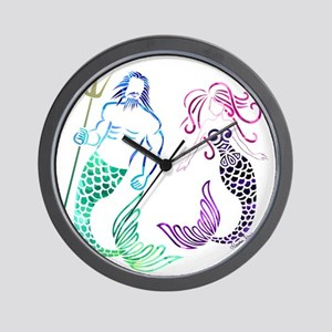 Mermaid Couple Wall Clock