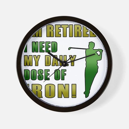 Funny Retired Golfer Wall Clock