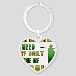 Funny Retired Golfer Heart Keychain