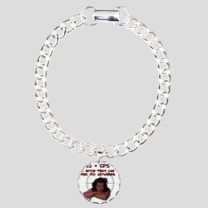 PMS + GPS Charm Bracelet, One Charm
