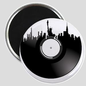 New York City Vinyl Record Magnet