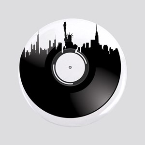 "New York City Vinyl Record 3.5"" Button"