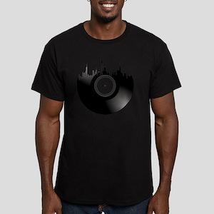 New York City Vinyl Re Men's Fitted T-Shirt (dark)