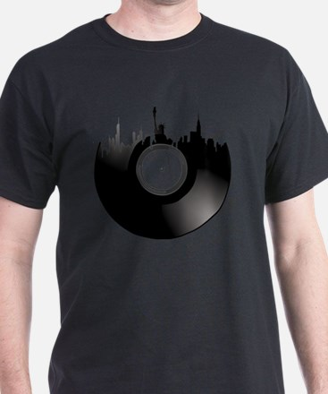 New York City Vinyl Record T-Shirt