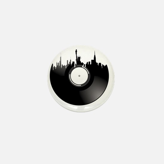 New York City Vinyl Record Mini Button