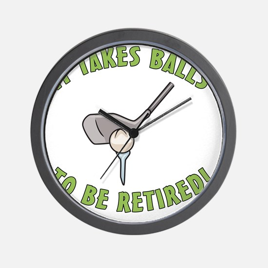 Funny Golfing Retirement Wall Clock
