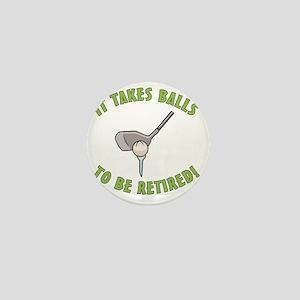 Funny Golfing Retirement Mini Button