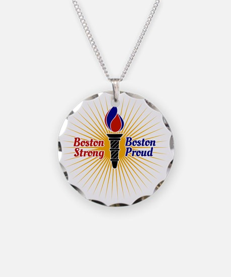 Boston Strong, Boston Proud  Necklace