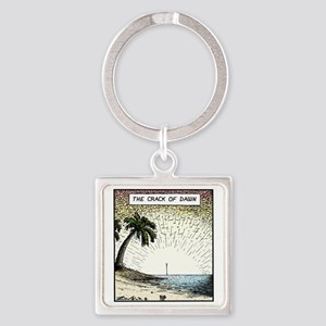 The crack of Dawn Square Keychain