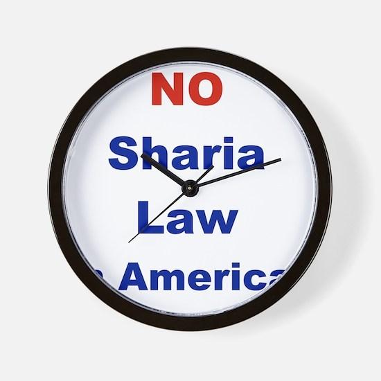 NO SHARIA LAW IN AMERICA Wall Clock