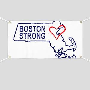Boston Strong Heart Banner