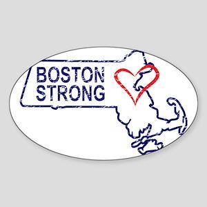 Boston Strong Heart Sticker (Oval)