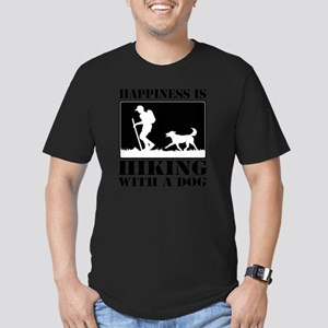 Happiness is Hiking wi Men's Fitted T-Shirt (dark)
