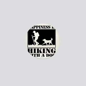 Happiness is Hiking with a Dog Mini Button