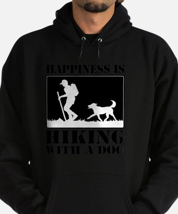 Happiness is Hiking with a Dog Hoodie (dark)