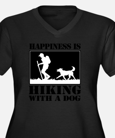 Happiness is Women's Plus Size Dark V-Neck T-Shirt