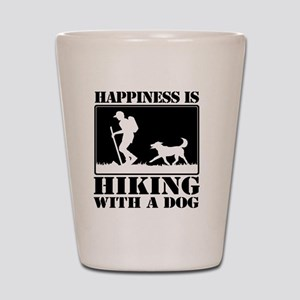 Happiness is Hiking with a Dog Shot Glass